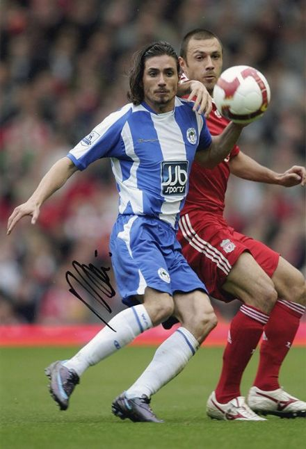 Daniel de Ridder, Wigan Athletic, signed 12x8 inch photo.